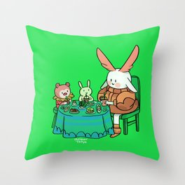 Bunnie with her friends Throw Pillow