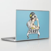 roller derby Laptop & iPad Skins featuring Roller Derby  by Hungry Designs
