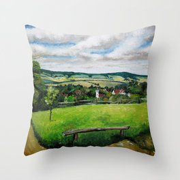 Art.For the people by Ildiko Csegoldi Throw Pillow