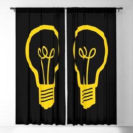 Yellow Lightbulb Blackout Curtain