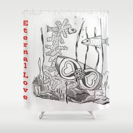 The Symbol of Eternal Love Shower Curtain