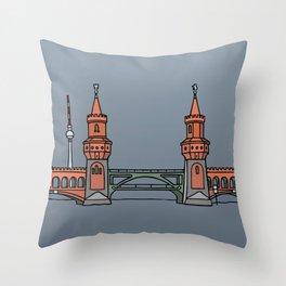 Oberbaum Bridge in Berlin Throw Pillow