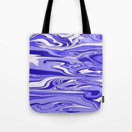 Blue Marble Pattern Tote Bag