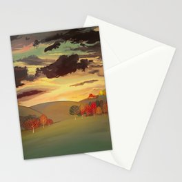 Gold field Stationery Cards