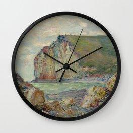 "Claude Monet ""Falaises des Petites-Dalles"" Wall Clock"
