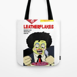 Leatherflakes: Eat The Texas Chainsaw Massacre for Breakfast Tote Bag