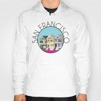 san francisco Hoodies featuring SAN FRANCISCO by Lauren Jane Peterson