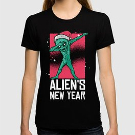 Dabbing Alien New Year Christmas T-shirt