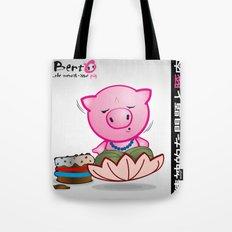 Berto: The Mental-issue pig in trascendental meditation Tote Bag