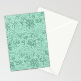 Joshua Tree Landscape in Sage Green Stationery Cards