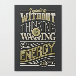 Learning thinking Canvas Print