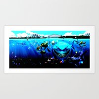 nemo Art Prints featuring nemo by Marwan Baghdadi