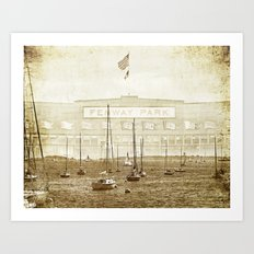 fenway on the harbor Art Print