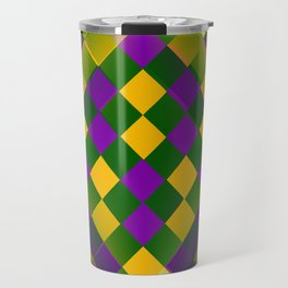 Harlequin Mardi Gras pattern Travel Mug