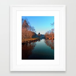 Winter mood on the river | waterscape photography Framed Art Print