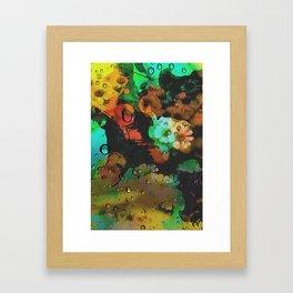 Flower and Dragonfly Framed Art Print