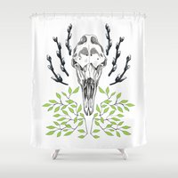 moose Shower Curtains featuring Moose by Margrethe Pedersen