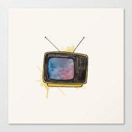 Yellow TV Canvas Print