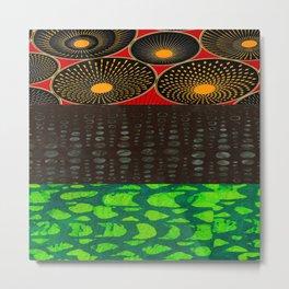Pan African Flag Collage Metal Print