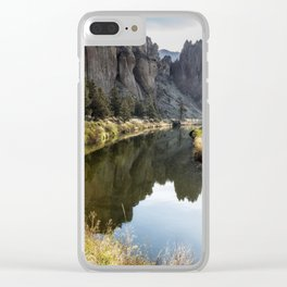 Smith Rock Morning Glow Clear iPhone Case