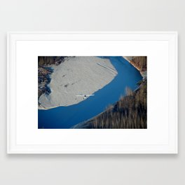 Scenic Flight Framed Art Print