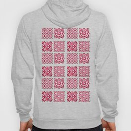 N90 - Pink Heritage Traditional Moroccan Tiles Style Design Hoody