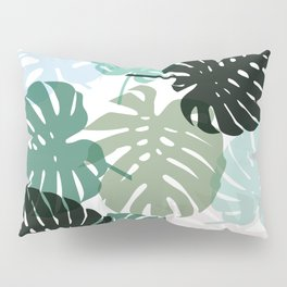 Tropical Monstera - green Pillow Sham