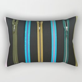 Zippers for clothes on black Rectangular Pillow