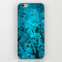 Teal Geometric Pattern iPhone Skin