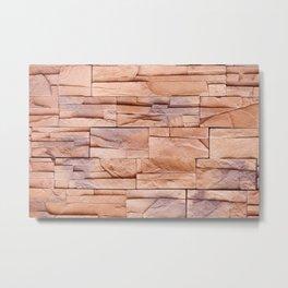 Slate tiles brown purple rock abstract Metal Print