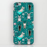 fitness iPhone & iPod Skins featuring Fitness for cats by Vannina