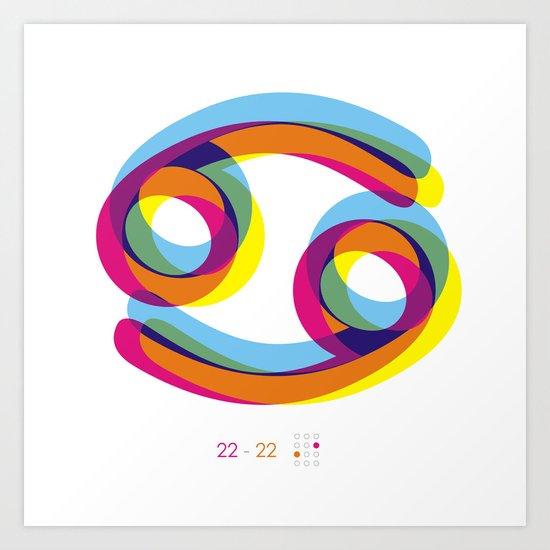 Cancer ~ Zodiac Art Print