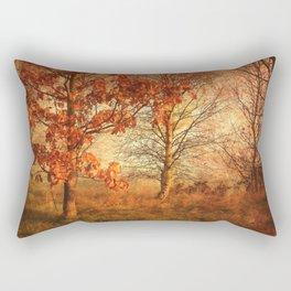 Textured Autumn Trees Rectangular Pillow