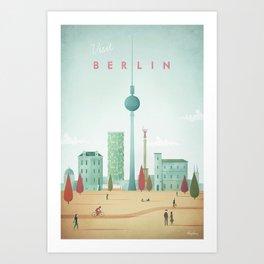 Vintage Berlin Travel Poster Art Print