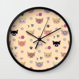 I Sure Do Like Kitties Wall Clock