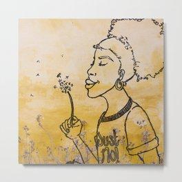 Just No (lavender field) Metal Print