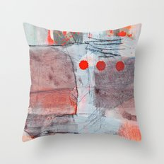 grey red 2 Throw Pillow