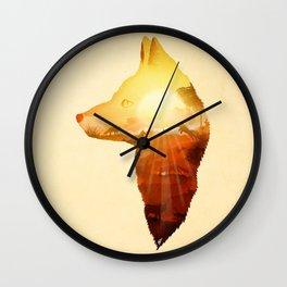 Playing at Sunset Wall Clock