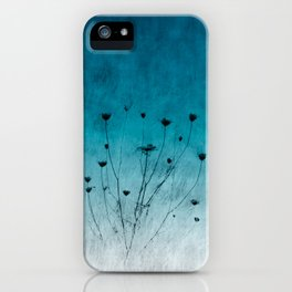 Blue Floral ~ silhouettes iPhone Case