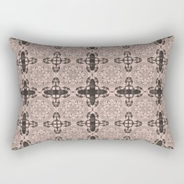 Pale Dogwood Abstract Rectangular Pillow