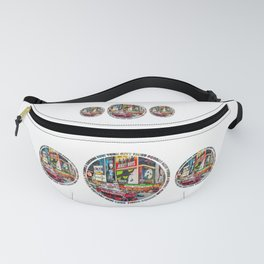 Times Square New York City Badge Fanny Pack