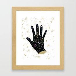 Floral Palmistry Framed Art Print