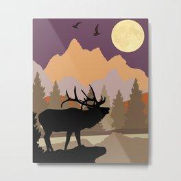 Mountain Caribou Scene Metal Print
