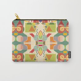 Abstract artistic geometric seamless pattern. Colorful design. Colored geometric shapes, figures. Modern art background Carry-All Pouch