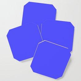 Bright Fluorescent Neon Blue Coaster