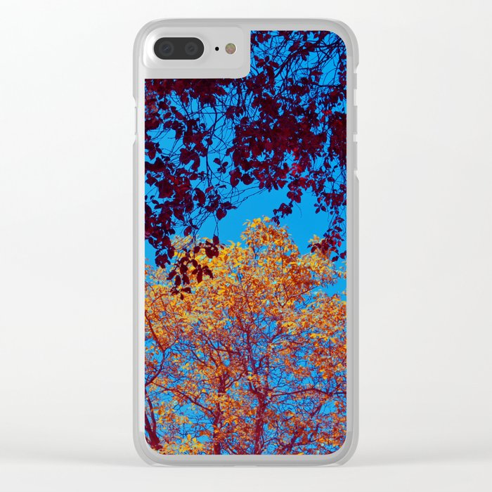 Red and Golden Spring Crowns Clear iPhone Case