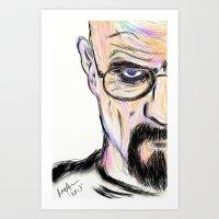 breaking Art Prints featuring Breaking by Taste of Ink Designs