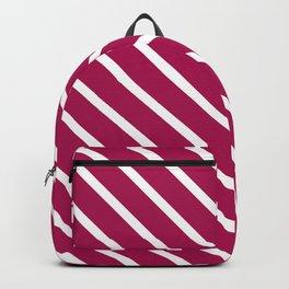 Red Plum Diagonal Stripes Backpack