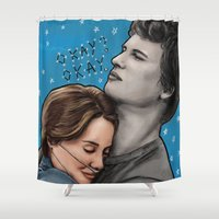 fault in our stars Shower Curtains featuring The Fault In Our Stars by Adora Chloe
