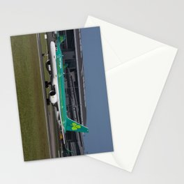 Aer Lingus Boeing 757 EI-LBT operating the inaugural Dublin to Toronto flight Stationery Cards